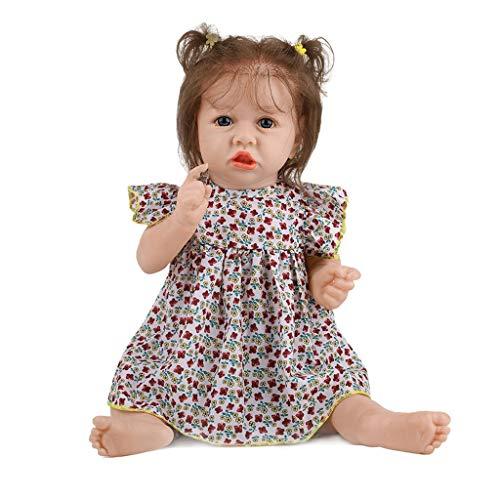 Xiangrun Muñecas de bebé Reborn realistas, 58cm de Aspecto Realista, Silicona Realista, Cuidado del bebé, Cuidado del bebé, Juguete fácil de Lavar, Regalo para niños y niñas
