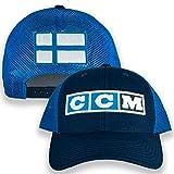 CCM Finland Flag Navy/Blue Trucker Hat