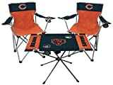 Rawlings NFL 3-Piece Tailgate Kit, 2 Gameday Elite Chairs and 1 Endzone Tailgate Table, Chicago Bears
