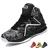 LANSEYAOJI Hombre Zapatillas de Baloncesto Calzado Deportivo Al Aire Libre Moda High-Top Sneaker Antideslizante Zapatillas de Deporte Ligeros Zapatos para Correr Transpirable Lace Up,EU39-45