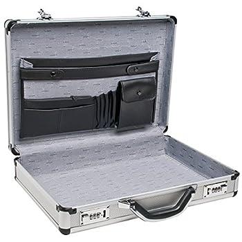 RoadPro SPC-931R 17.5  x 4  x 13  Silver Aluminum Briefcase,Medium
