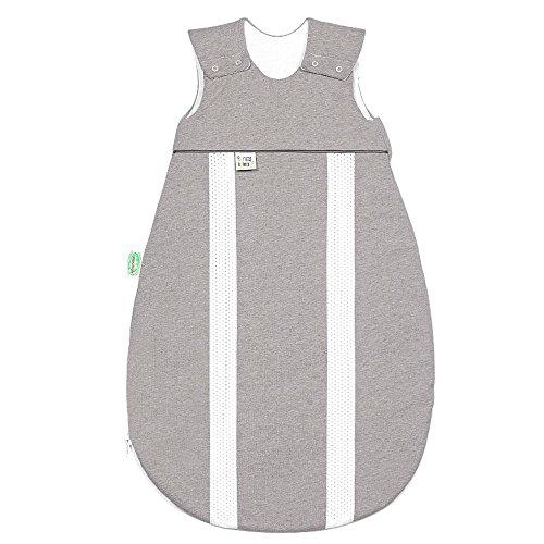 Odenwälder Jersey-Schlafsack primaklima melange silber, Größe in cm:70 cm