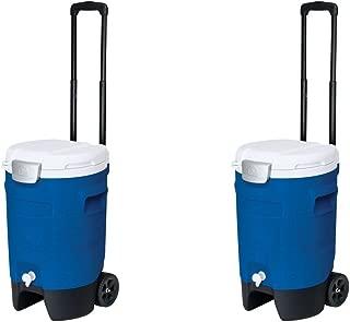 Igloo Sport Roller Beverage Cooler (Majestic Blue, 5-Gallon) (Pack of 2)
