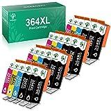 Greensky Cartuchos de tinta HP 364 XL Compatibles Reemplazo de HP Deskjet 3070A 3520 Officejet 4620 4622 Photosmart 5510 5514 5515 5524 5520 6520 7520 B010a B109a (8 Negro 4 Cian 4 Magenta 4 Amarillo)