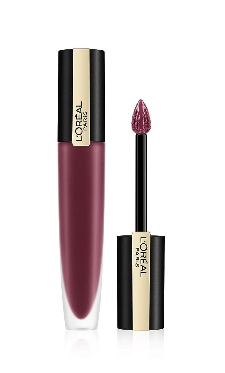過度に光沢のあるご覧くださいL'Oreal Paris Rouge Signature Matte Liquid Lipstick,103 I Enjoy, 7g