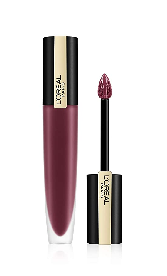 桃地平線ターミナルL'Oreal Paris Rouge Signature Matte Liquid Lipstick,103 I Enjoy, 7g
