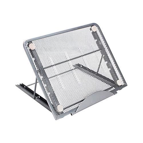 ODLICNO Mesa Laptop, Bastidor de Enfriamiento para Computadora Portátil Plegable, Soporte de Aluminio Ajustable Portátil, Adecuado para Laptop, iPad etc