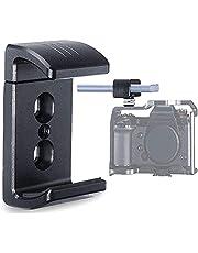 Camera Beugel Klemhouder voor Portable Power Banks Holder Portable Charger Mount van 1/4 Schroefgat compatibel voor A73 A6400, A7R III Vlog Camera Cage DSLR Camera Rig