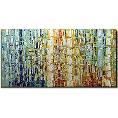 Tiancheng Art 24 x 48 Inch Abstract Art Painting 3D Oil Hand Painted on Canvas Wall Art Prints Framed Palette Knife Oil Canva Painting Acrylic Ready to Hang by Tiancheng