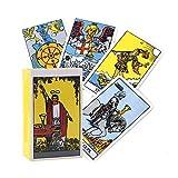 Tarot Tarot Rider Waite, 78 Partes/Juego de Tarot, adivinación, los Principiantes Cartas de Juego del Juego de Mesa Conjunto de Caja de Colores (versión en Inglés)
