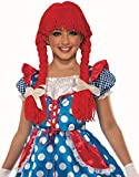 Forum Novelties Child's Deluxe Rag Doll Wig, As Shown, One Size