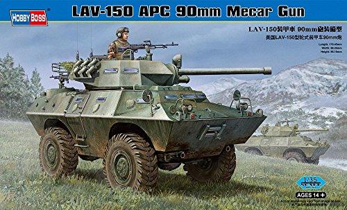 Hobby Boss LAV-150 APC with 90mm MECAR Gun Vehicle Model Building Kit