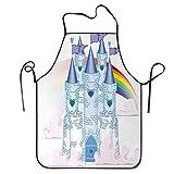 Cuento de hadas Castillo de la princesa en el cielo con Rainbow Love Gana Queer Surreal Romance Romántico Delantal de barbacoa Delantal de cocina Cocina creativa Parrilla Hornear Delantal de jardinerí