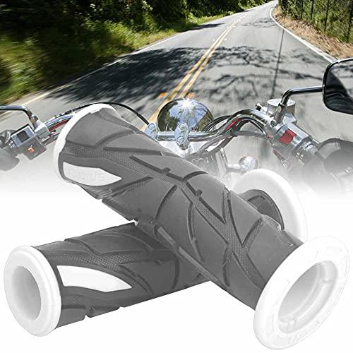 Changor Blanco Manillar, Hecho de Goma Material Diseño Ideal 2pcs Bicicleta Manillar Empuñaduras