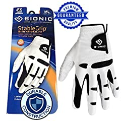 Three-dimensional pads wrap around the sides of the fingers to even out the surface between fingers as well as the palm side for a more stable grip on the club. Bionic patented pad technology increases the durability of the glove and also helps to re...