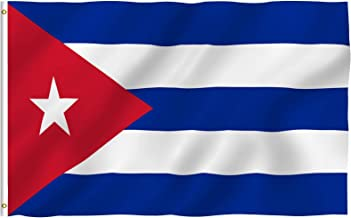 Anley Fly Breeze 3x5 Foot Cuba Flag - Vivid Color and Fade Proof - Canvas Header and Double Stitched - Cuban National Flags Polyester with Brass Grommets 3 X 5 Ft