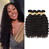 Huarisi 7a Deep Wave Bundles Brazilian Hair Weaves 100 Percent Human Hair Thick Extensions 12 14 16 18 Inch Unprocessed Virgin Hair Weft for Weaving