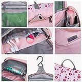 Mountaintop Kulturbeutel Kosmetiktasche Kulturtasche zum Aufhängen Toiletry Bag Waschtasche für Reise Urlaub, 24 x 9 x 19 cm (B - Pale Pink (L)) - 3