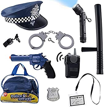 Born Toys Police Toys Set with Police Accessories Includes Police Baton Handcuffs for Kids Toy Gun Police Hat - For Kids Police Costume for Boys & Girls for their Role Play Dress Up & Pretend Play