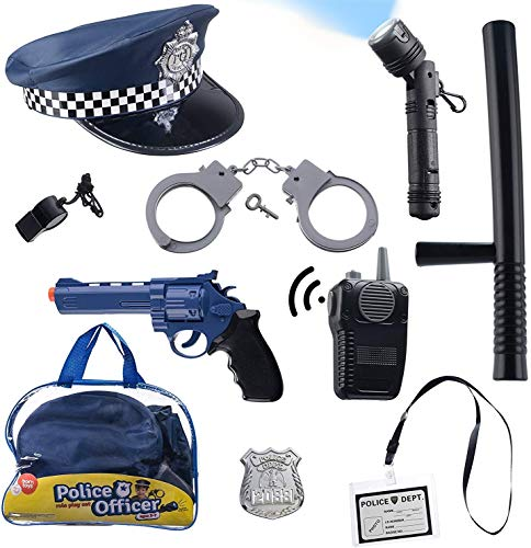 Product Image of the Born Toys (11 PCS) Police Hat and Toys role play set for Swat, Detective,FBI,...