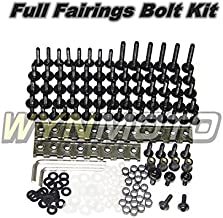 Red WYNMOTO US Stock Complete Motorcycle Fairing Aluminum Fasteners Body Screws For Yamaha R1 02-06 YZF1000 R1 2002 2003 2004 2005 2006 New Bolt Kit Hardware Clips