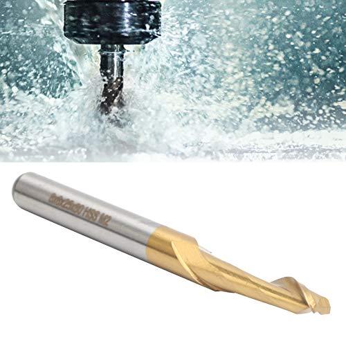 BOLORAMO Suministros de la Industria del Cortador de fresado de una Sola Flauta de 8 x 8 x 25 x 80 mm para el procesamiento de Puertas y Ventanas de aleación de Aluminio