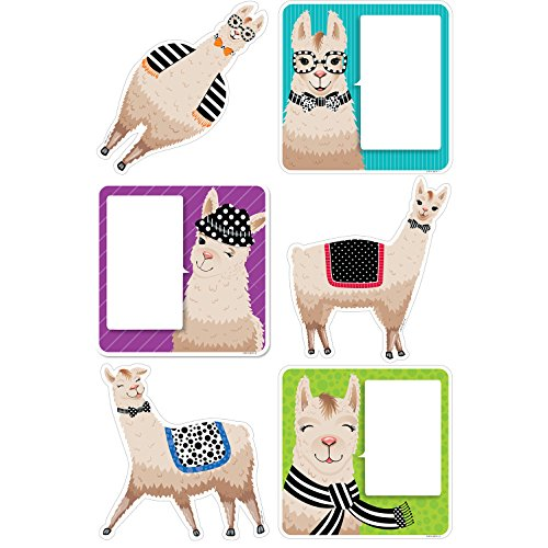 """Creative Teaching Press Bold & Bright Llamas 6"""" Cut Outs (Accent for Calendars, Bulletin Boards, Rooms, Hallways, Learning Spaces and Other Classrooms Displays) (3377)"""