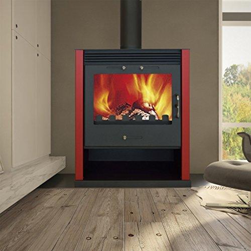 Docooler Kaminofen/Pelletofen Pelletkaminofen Kaminofen Heizofen Ofen Pelletheizung 21 kW, Brennstoff: Holz, Logs, Kohle