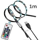 OurLeeme LED Nastri Led, USB TV Backlights Impermeabile 16 colori RGB LED Strip Light mult...