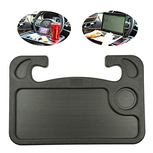 Steering Wheel Tray for Food,Car Table Kids Travel Tray,Car Desk Seat Trays for Eating,Cars Must Haves Interior Accessories Cool Gadgets for Men(Black)