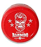 Cera para el pelo BANDIDO de 150 ml. Fibra moldeadora del pelo con fijación y resistencia extrafuerte para todo tipo de cabellos. (Rojo)