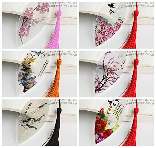 THTHT Vintage Vena Creativa Segnalibro Fiore Peonia Fiore Bird Classico Stile Cinese Ufficio Studenti Bambini Lettura Giovane Dono Semplice Moda 6 Pezzo Suit