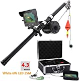 ZGYQGOO Aluminum Alloy Underwater Fishing Video Camera Kit 6W White LED Lights with 4.3' Inch HD Color Monitor