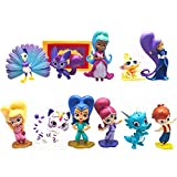 Passionate Girls Paradise Figure Playset 12pcs Popular Movie Characters Toy Cake Toppers Party Supplies Birthday Decorations More Toys