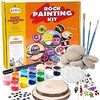 BOKIN Kids Ages 4-8 Supplies for Painting Rocks Hide and Seek Painting Kit