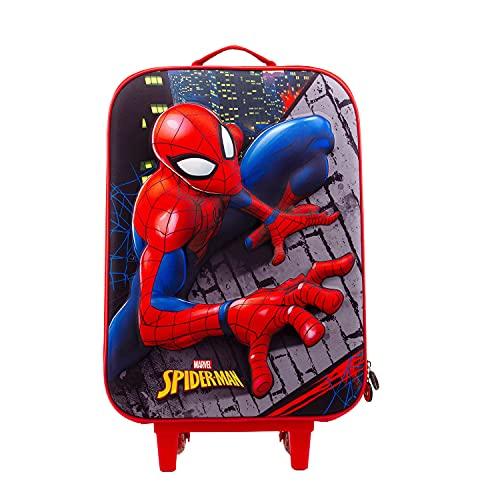 KARACTERMANIA Spider-Man Wall-Valigia Trolley Soft 3D, Multicolore