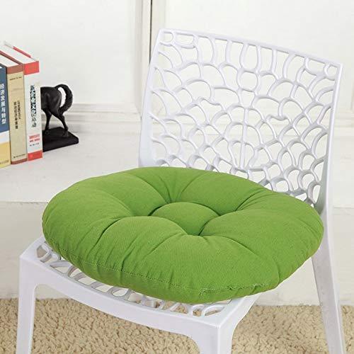 Nologo Cojín para silla redondo, grueso, cojín para asiento de jardín de niños, taburete, salón, alfombrilla, sofá, asiento, gris oscuro, 43x43cm