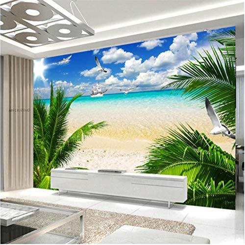 ponana Fototapeten Nach Maß Foto In Beliebiger Größe (Hd) Atmosphärisch Strand Ägäis Landschaft Tv Hintergrund Wandtapete-200X140Cm