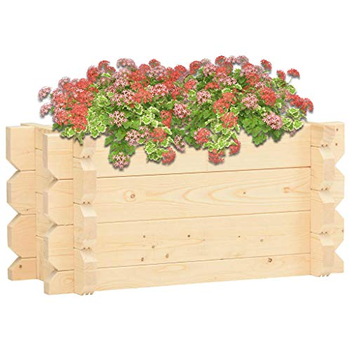 SKM Raised Bed 42 mm 100x50x47.3 cm Solid Spruce Wood