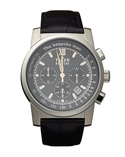 TAKEO KIKUCHI タケオキクチ メンズ 腕時計 ザ ビスポーク マン クロノグラフ ブラック TK20J7 (並行輸入品)