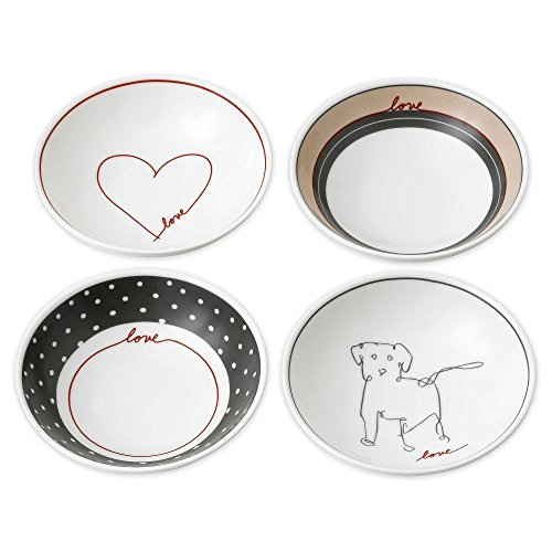 "ED Ellen DeGeneres Crafted by Royal Doulton ""Love"" Signature Porcelan Mini Bowls (Set of 4)"