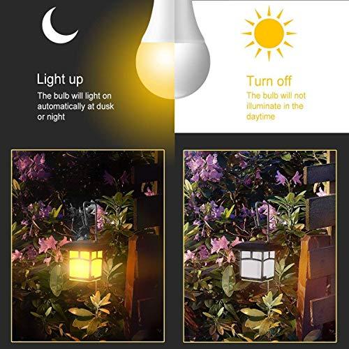 Govee Lampadina Con Sensore, 7W E27 Lampadina LED con Sensore Crepuscolare Luce Notturna con Automatico Interno/esterno Bianco Caldo Illuminazionea per Veranda, Corridoio, Patio, Gara, 3 pezzis