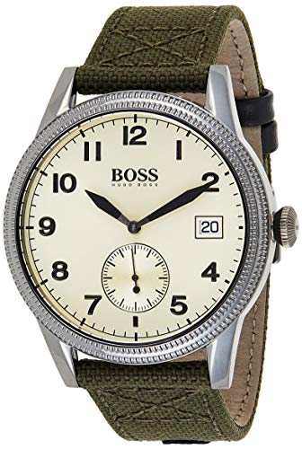 Hugo Boss Reloj Analógico para Hombre de Cuarzo con Correa en Tela 1513670