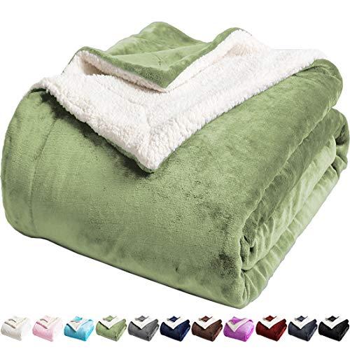 LBRO2M Sherpa Fleece Bed Blanket King Size Super Soft Fuzzy Plush Warm...