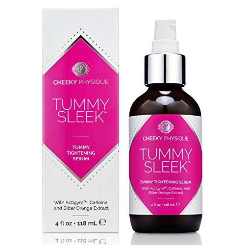 Tummy Sleek Stomach Tightening Serum - Skin Firming & Body Toning Gel for Abs Belly and Waist with Actigym + Caffeine + Bitter Orange Extract - 4 oz.