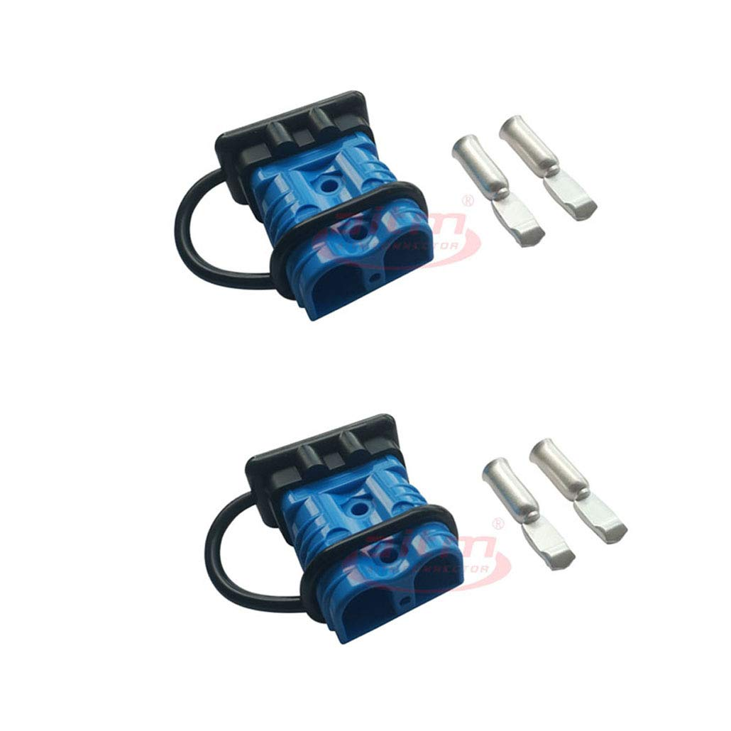 Dent-de-lion 175A Battery Connector Quick Connect Battery Modular Power Connectors Quick Disconnect Blue, 4 awg