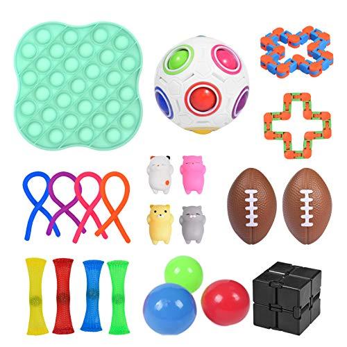 Shunfaji Fidget Toys, 22er Pack Fidget Sensory Toy Set, Stressabbau-Spielzeugset, Premium- Und Langlebiges Stressabbau-Spielzeug Für Kinder Erwachsene Stressabbau-Spielzeug