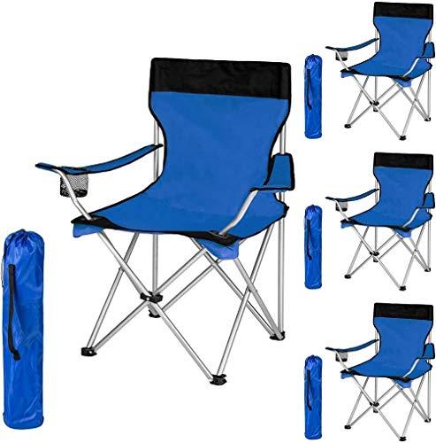 Woodtree Silla Plegable de Camping tapizados con Soporte for Bebidas y el Bolso cantidad Paquete -, Tamaño: 2 Piezas, Color: Negro-Verde. (Color : Black-Blue, Size : 2 pcs.)