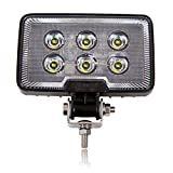 Maxxima MWL-29 6 LED Rectangular Work Light 1,200 Lumens