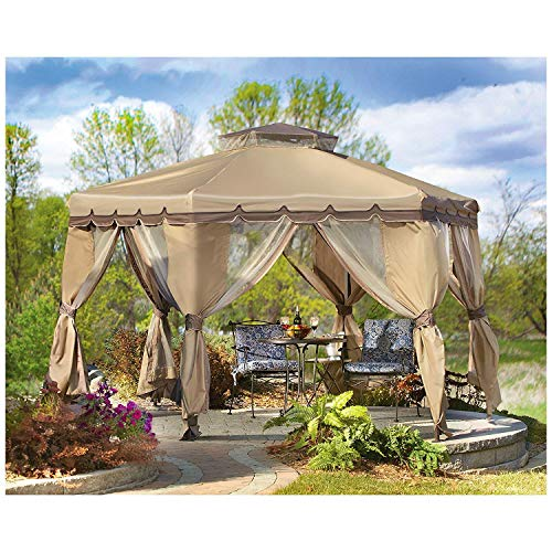 CASTLECREEK Paradise Gazebo with Bug Netting, 12' x 12'